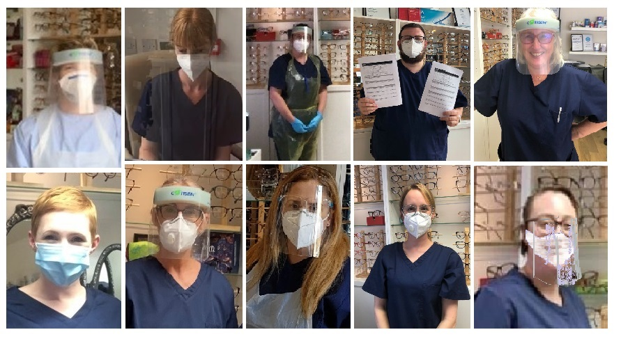Allegro Optical Staff in PPE masks